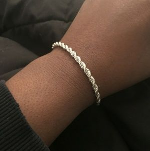 **New** Silver Plated Rope Bracelet